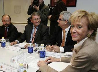 Les cadenes de televisió es van reunir amb la vicepresidenta del Govern ahir a Madrid